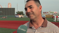 Pitcher John Franco Gives Clinic to Youth Players