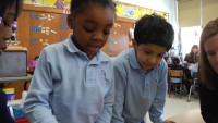 Students Working Together at Our Lady of the Snows School