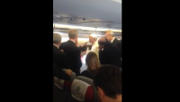 Pope on Plane