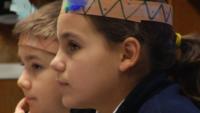 Elementary School Students Reenact First Thanksgiving