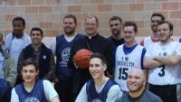 Basketball Bishop Visits Seminarians