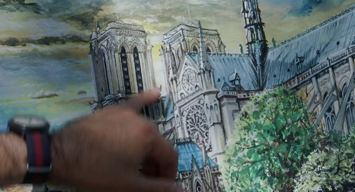 Cathedral On Canvas - Visual Tribute To Notre Dame