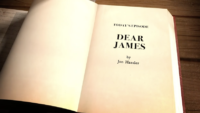 "Title page of a book reading, ""Today's Episode Dear James by Jon Hassler"""