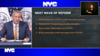 Mayor de Blasio Announces Plans to Cut NYPD Budget as Police Warn of Potential Dangers