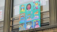 Catholic School Students Create Art for Health Care Workers After Local Piece Is Vandalized