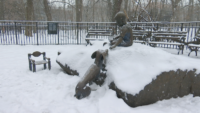 Artist Otto Neals Reflects on His Literary Landmark Sculpture, 'Peter and Willy,' in Prospect Park