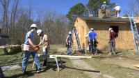 Xavier HS Students Spend Spring Break Building Home for Christian Frontline Worker