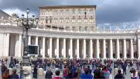 Saying He Missed People, Pope Francis Returns to Window for Sunday Prayer
