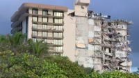 Makeshift Memorial Near Collapsed Condo Tower Is Reflection of Humanity