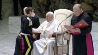 Child Asks Pope, Can I Have Your Hat?
